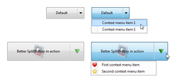 Better SplitButton (Dropdown button) for .NET overview
