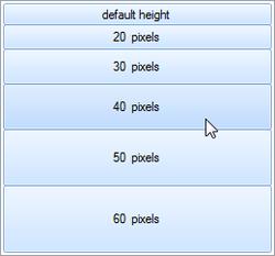 Items of Arbitrary Sizes